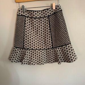 LOFT Skirts - LOFT 2P Deco Pattern Trumpet Skirt Black White